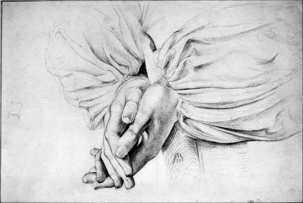 Артур Хьюз. Руки молящегося