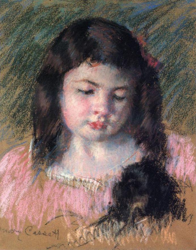 Mary Cassatt. Francoise looking down
