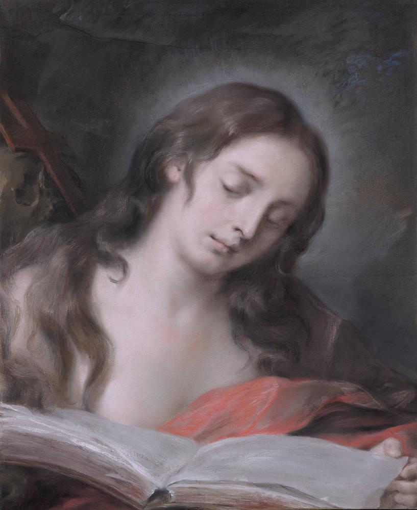 Rosalba Carriera (Carrera). Мария Магдалина с книгой