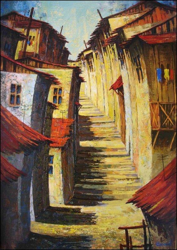 Grant Volodyaevich Sukiasyan. Old city in Armenia