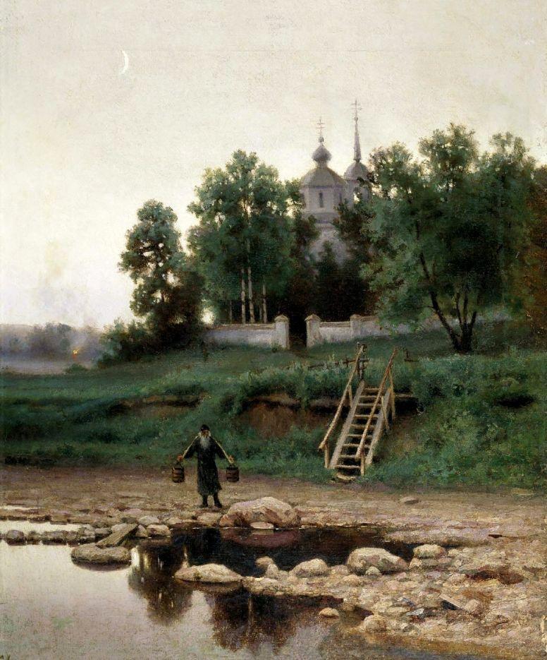 Ефим Ефимович Волков. У монастыря