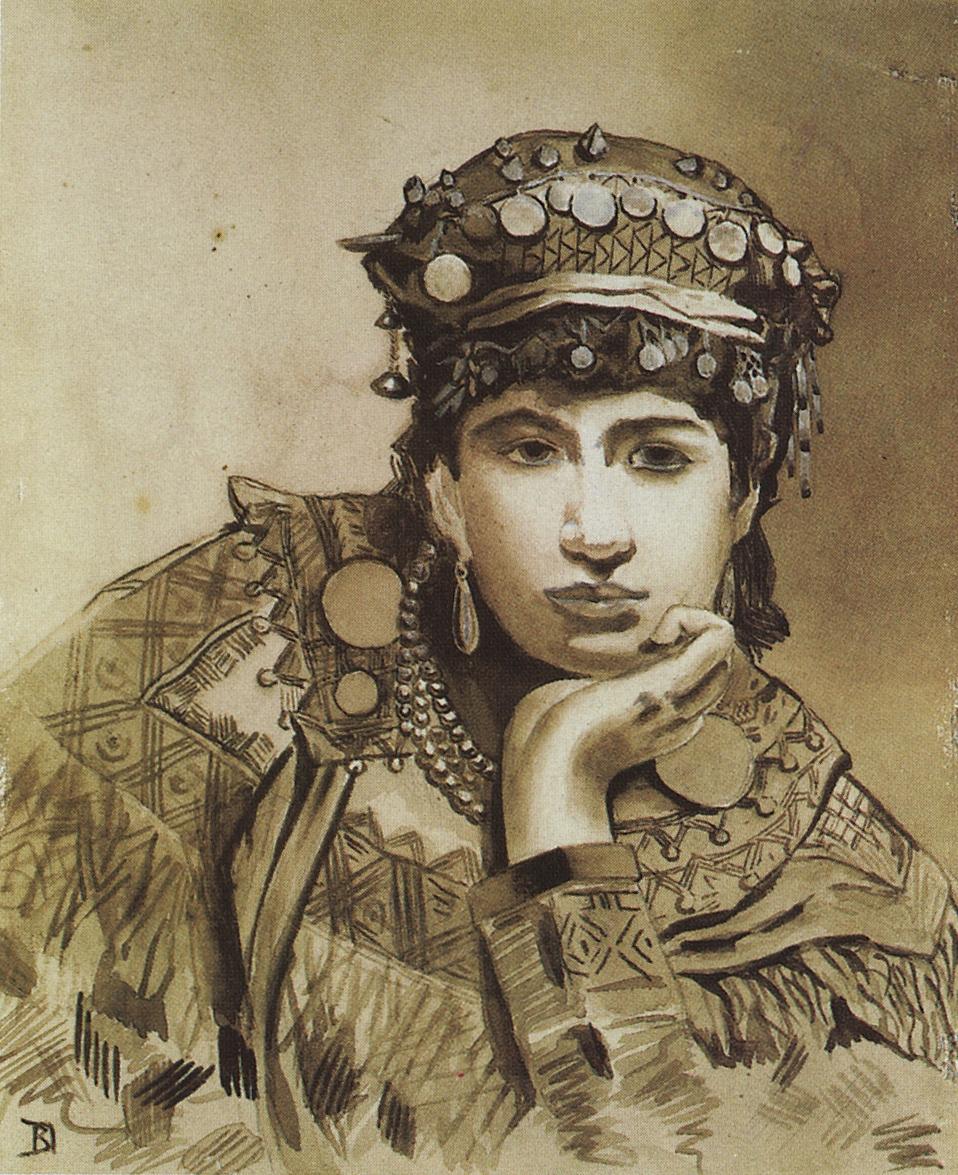 Vasily Dmitrievich Polenov. Montenegrin girl