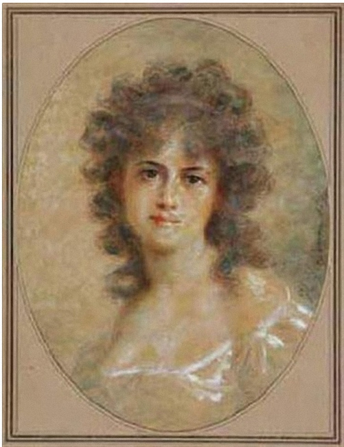 Fedor Petrovich Chumakov. Young woman with curls.
