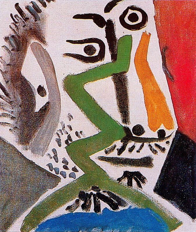 Пабло Пикассо. Голова мужчины 3
