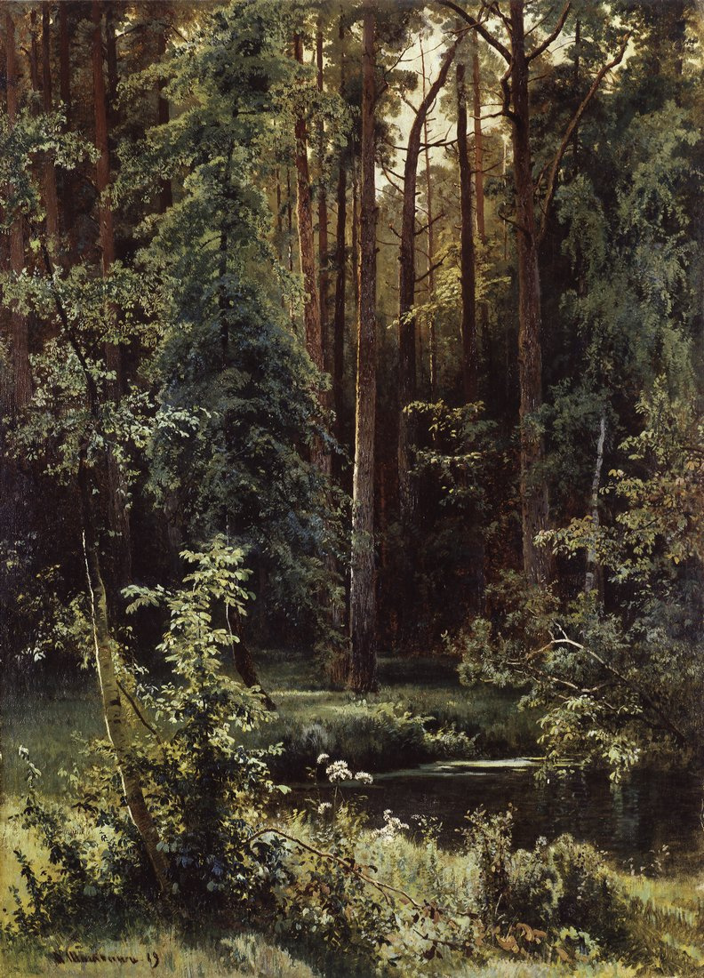 Ivan Shishkin. Landscape with forest lake