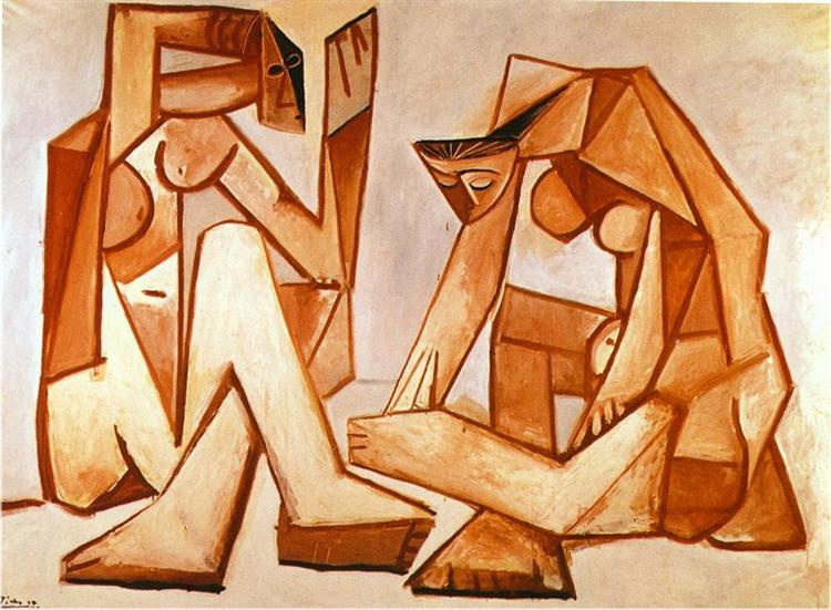 Пабло Пикассо. Две женщины на пляже