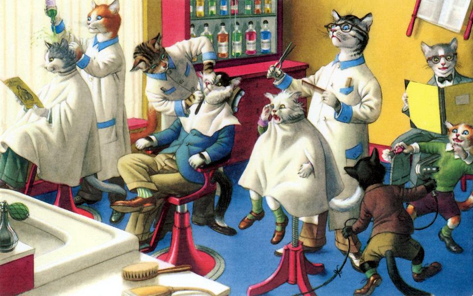 Доця, открытки кошки люди
