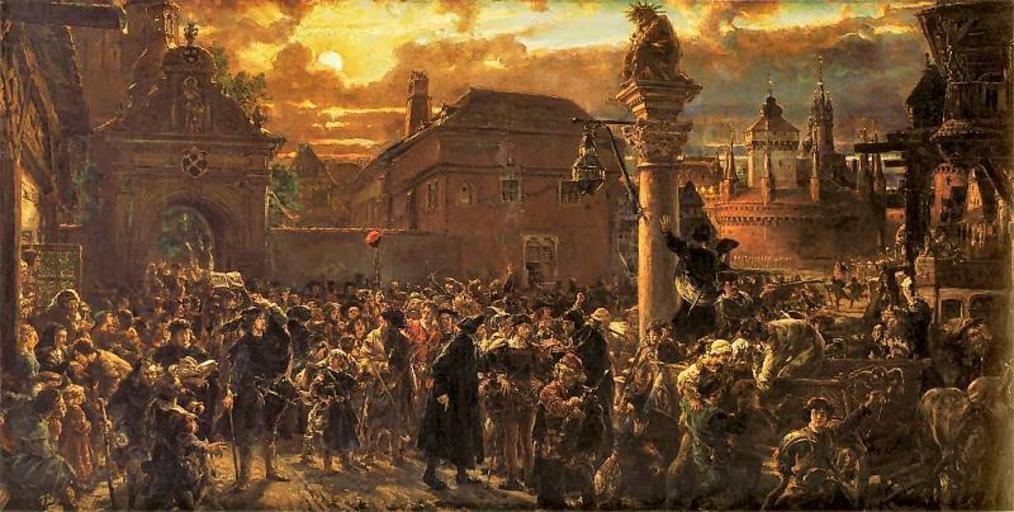 Ян Матейко. Выход студентов из Кракова в 1549 году