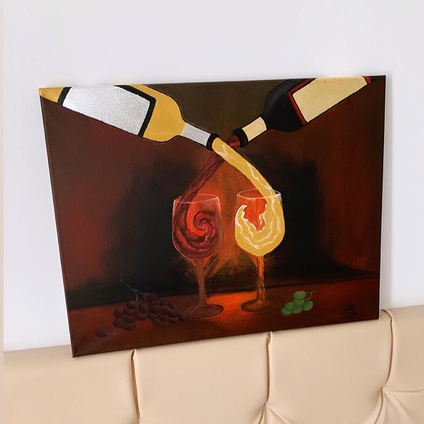 Susana Kochesok. Red and white wine