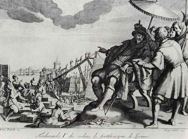 Жак Калло. Герцог повелевает укрепить гавань в Ливорно