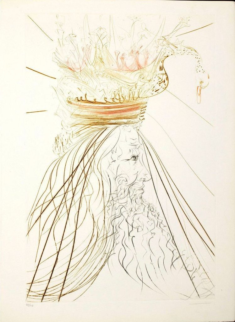 """Salvador Dali. Sketch for the play """"Tristan and Isolde"""""""