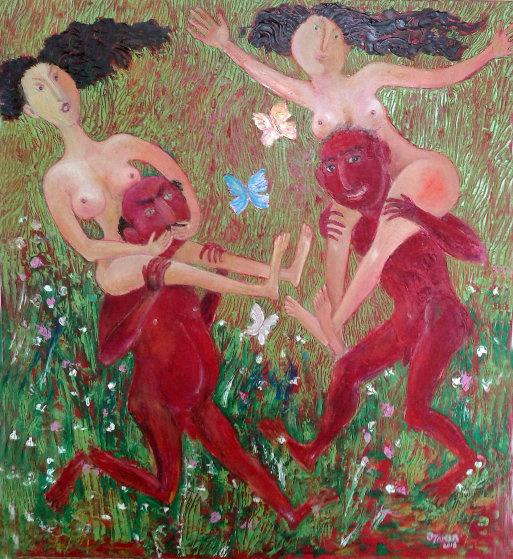 Zakir AHMED Ahmedov. Springtime 2016year 35x31in Original Painting Oil on Canvas