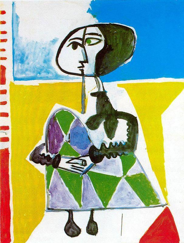 Пабло Пикассо. Сидящая Жаклин 2