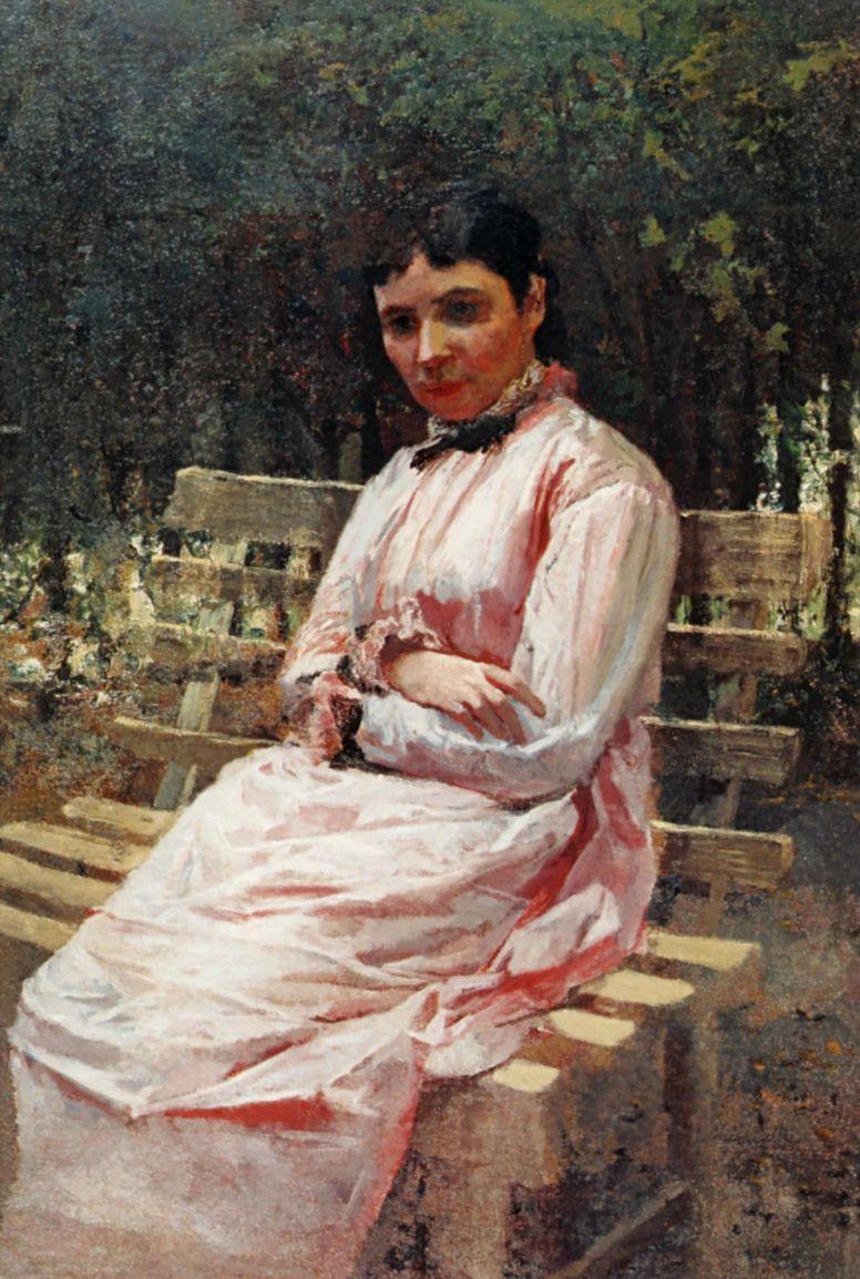 Nikolay Aleksandrovich Yaroshenko. In the Park. The Portrait Of S. R. Levitskaya