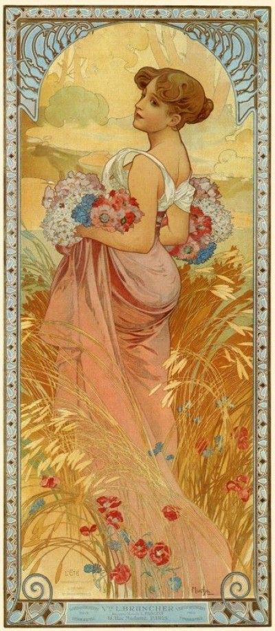 Alfons Mucha. Summer. Four seasons
