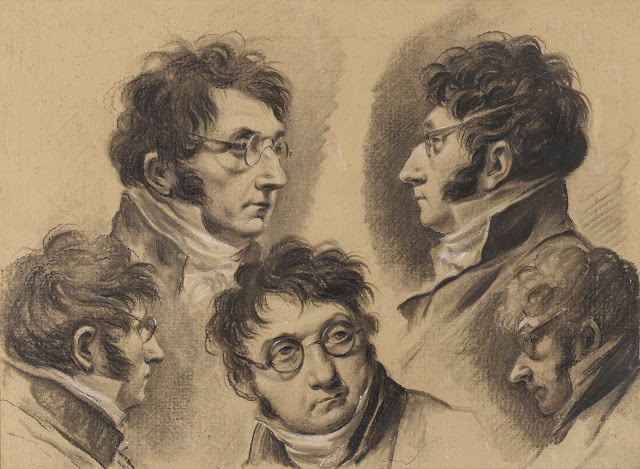 Louis-Leopold Boi. Study with five self-portraits of the artist
