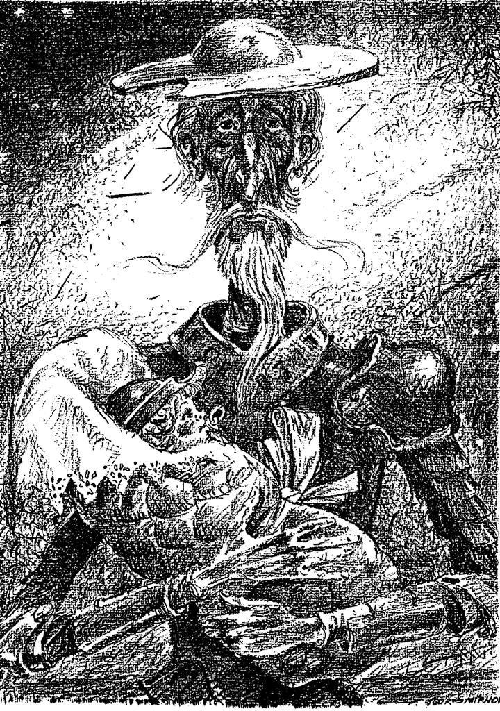 "Igor Alekseevich Smirnov-Sardanovsky. From the series ""All about Don Quixote"""