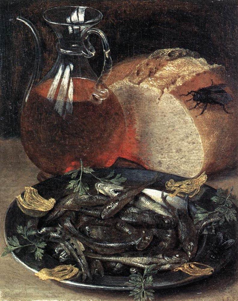 Georg Flegel. Still life with fish