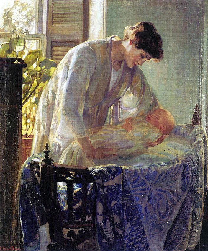 Этель Пенневилл Браун Лич. Мать с младенцем