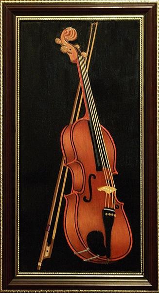 Victor Petrovich Burmin. Etude with violin # 4.