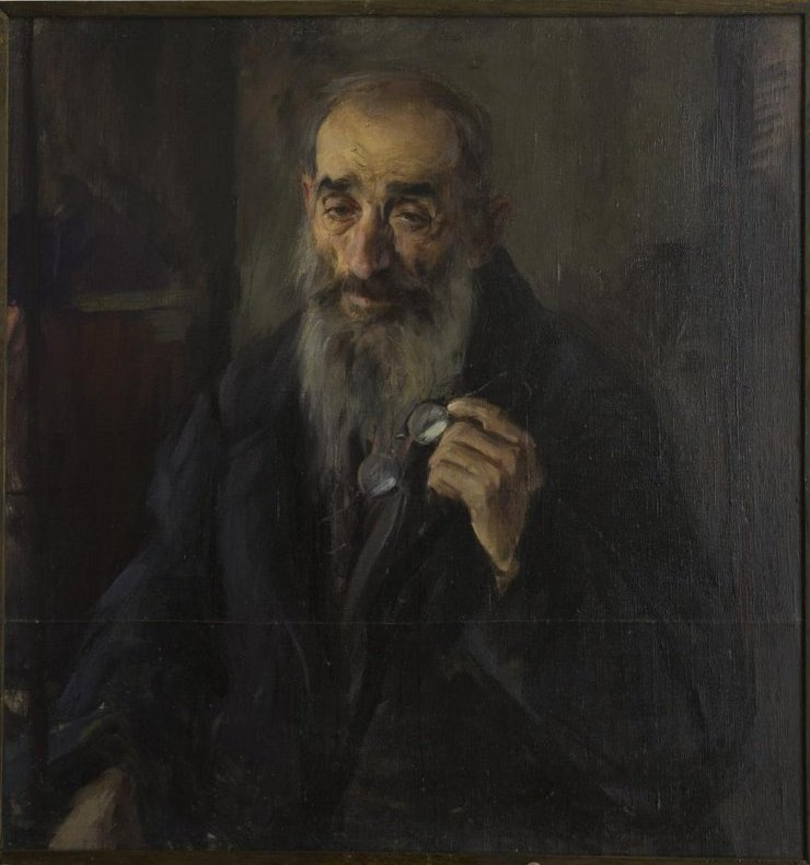 Pavel Petrovich Benkov. Portrait of old greek