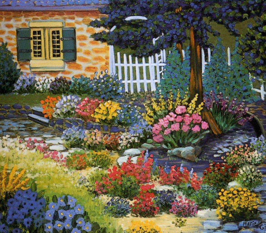 Mari Girou. Spring garden
