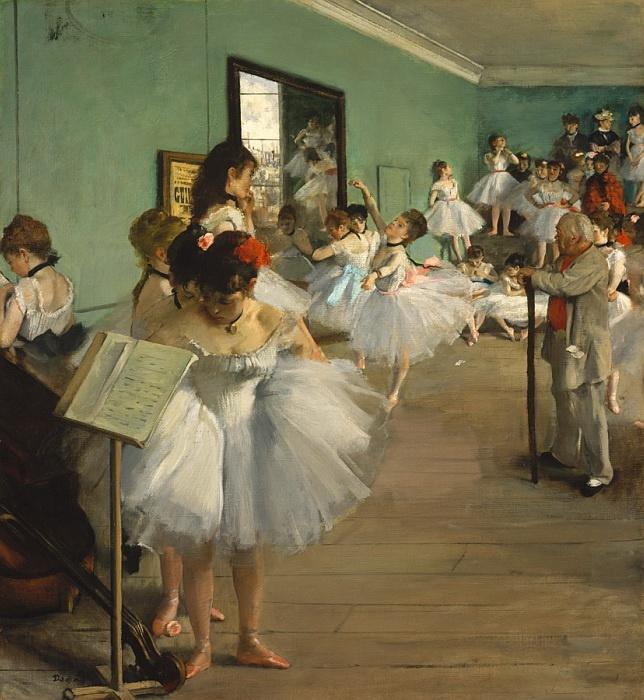 Edgar Degas. Dance class