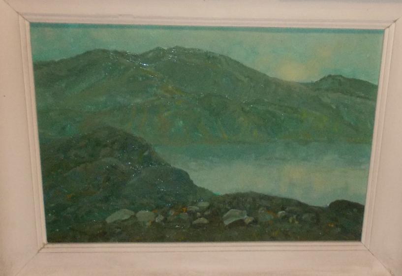 Boris Yakovlevich Ryauzov. Yenisei. Morning fog.