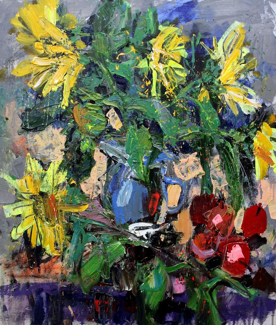 Ilya Pavlovich Spichenkov. Sunflowers and apples 1