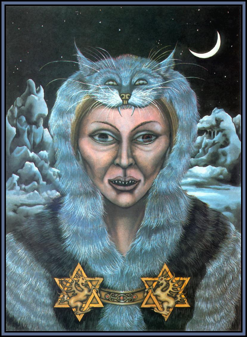 Una Woodruff. Woman with devil eyes