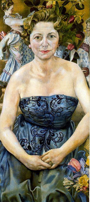 Джон Роддэм Спенсер-Стенхоуп. Женщина в синем платье