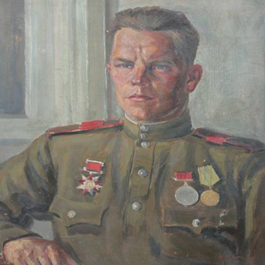 Vasily Fadeevich Demin. Portrait of Alexander Terentyevich during a short vacation in 1944