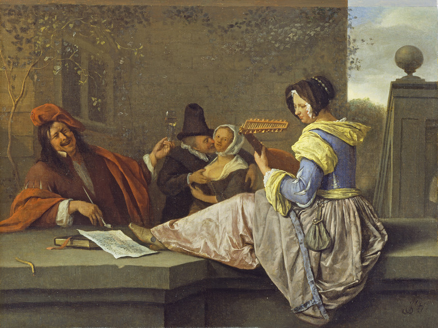 Jan Steen. Play the lute