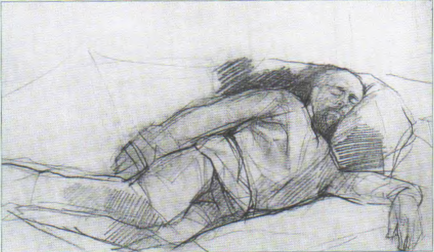 Valentin Aleksandrovich Serov. Портрет спящего Саввы Мамонтова