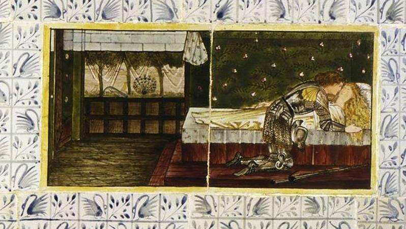 Уильям Моррис. Спящая красавица (Совместно с Эдвардом Бёрн-Джонсом). Панель 6