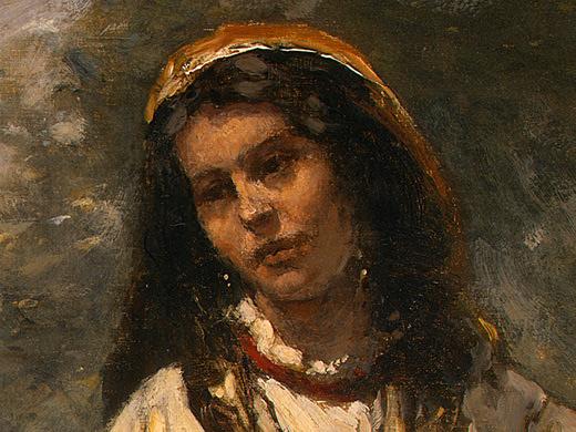 Камиль Коро. Цыганочка с мандолиной (фрагмент)