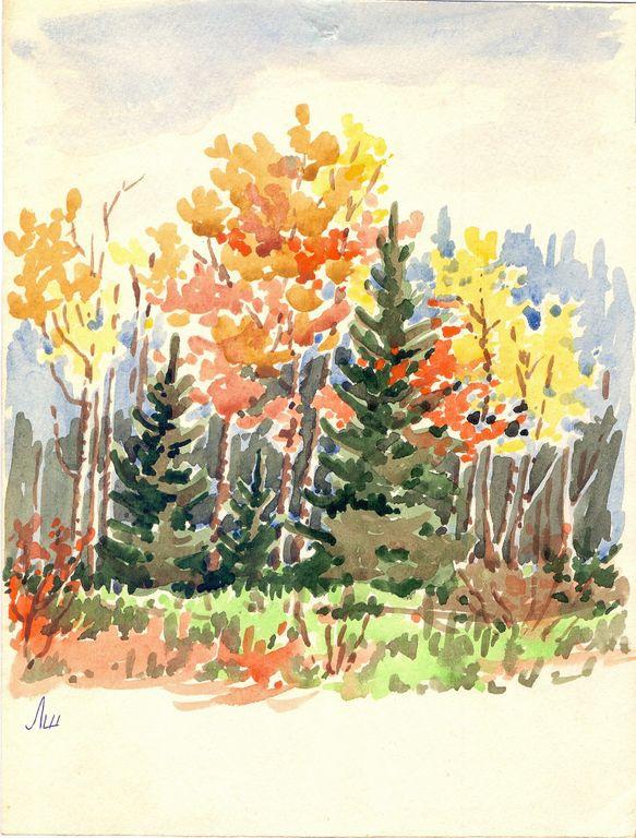 Larissa Alexandrovna Shilova. Autumn landscape