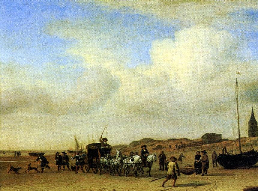Адриан ван де Вельде. Кортеж в Схевенингене