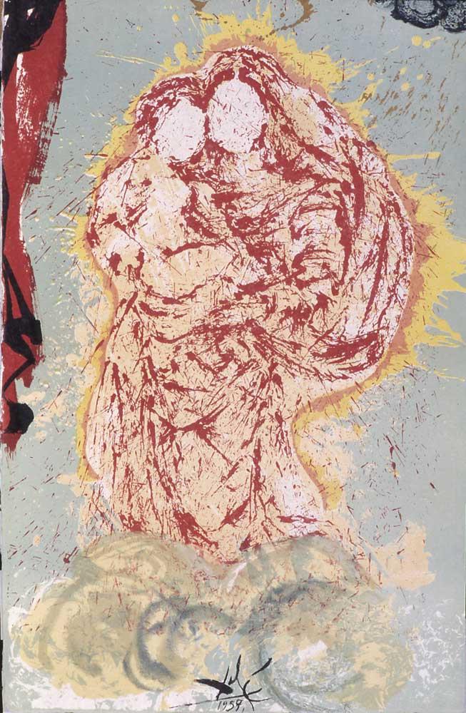 "Salvador Dali. Madonna (illustration for the novel ""don Quixote"")"
