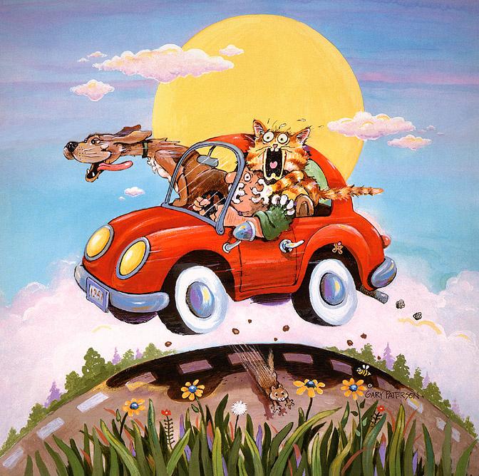 Автомобили рисованные смешные картинки, сделать открытку