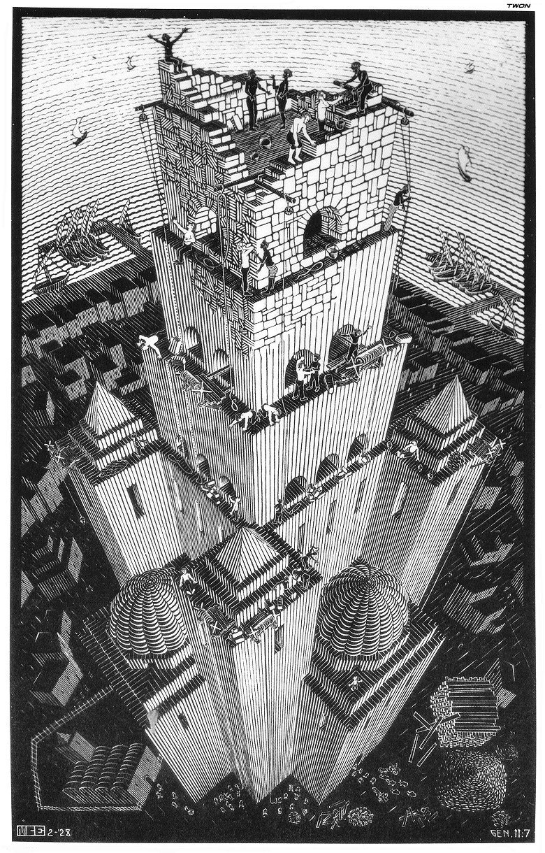 Maurits Cornelis Escher. Tower of Babel