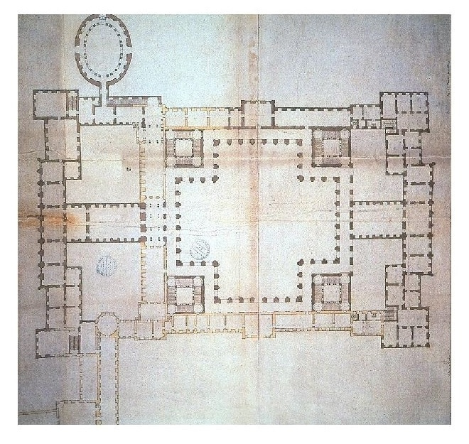 Gian Lorenzo Bernini. Louvre, 4th project plan