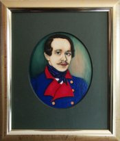 Victor Petrovich Burmin. Portrait of M. Yu. Lermontov