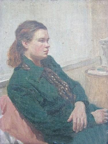 Andrei Ivanovich Bozhko. Portrait of the wife
