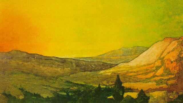 Максфилд Пэрриш. Пейзаж в Колорадо
