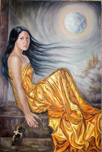 "Margarita Shamilevna Usmanova. Portrait of a sister ""In the moon"""