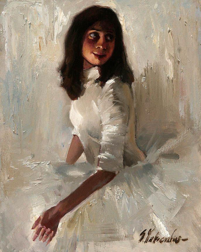 Sergei Yatsenko. Ballerina on a white background
