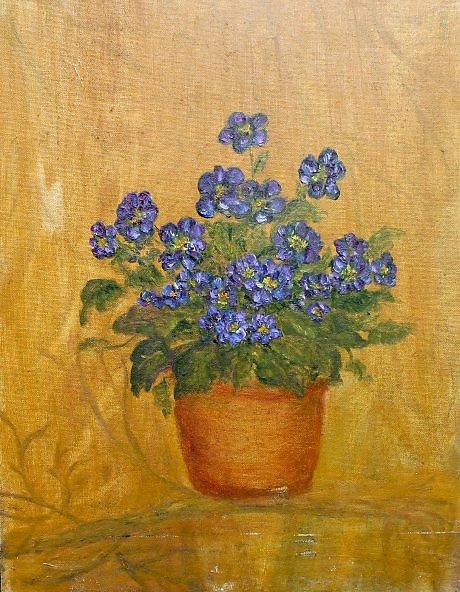 "Rita Arkadievna Beckman. ""Buy violets, here is a bunch of purple ..."""