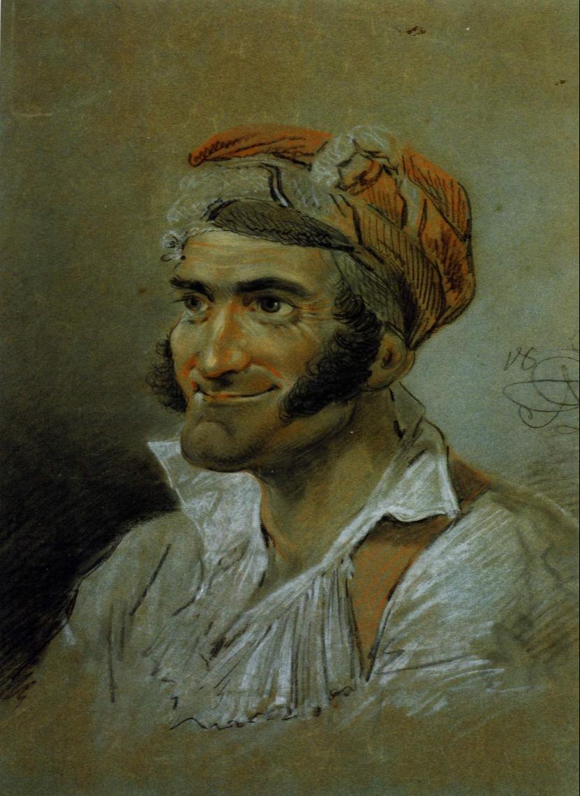 Alexander Osipovich Orlovsky. Portrait of an Italian. Kiev National Museum of Russian Art, Ukraine