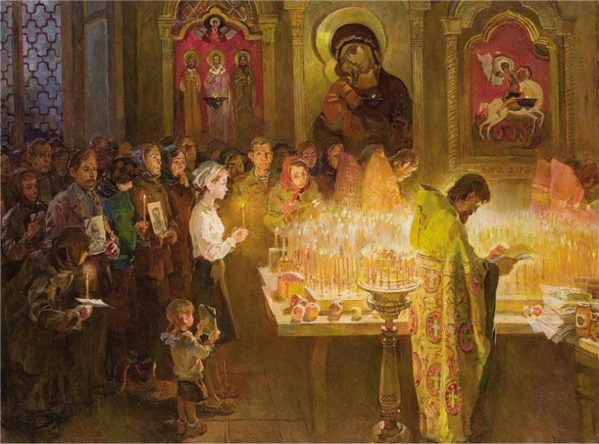 Victor Petrovich Kudrin. Easter